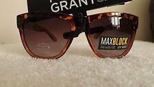 Élégant foster subventions cleo max bloc lunettes de soleil havane avec détail doré
