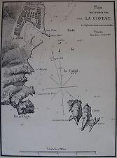 PLAN DU PORT DE LA CIOTAT ,1862, GAUTTIER, PLANS PORTS RADES MER MEDITERRANEE
