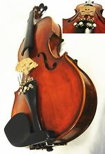 FINE 4/4 SIZE VIOLIN, GOOD SET UP W/ HRLICORE STRINGS & FRANCE BRIDGE,USED