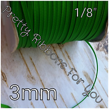 "Solid GREEN 1/8"" 3mm grosgrain ribbon the listing is for 20 yards"