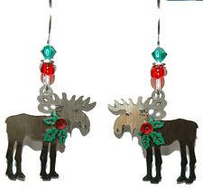 SIENNA SKY CHRISTMAS MOOSE DANGLE EARRINGS (SS014)