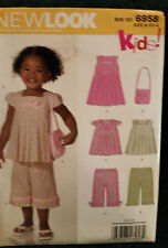 NEW LOOK Sewing Pattern Kids! Bin 101 6958 Girls  Sizes A 1/2-4 New Price Drop