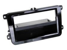 für Seat Leon Auto Radio Blende Einbau Rahmen 1-DIN Klavierlack schwarz
