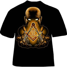 Masonic Free Mason T Shirt Black Princehall Affiliate Men XL