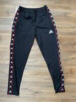 Adidas Men's TANGO TAPE Club House Soccer Track Pants Black/White-Size SMALL
