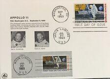 Apollo 11 FDC Washington D.C. 9.09.1969. With Rare Moon Landing Post Mark
