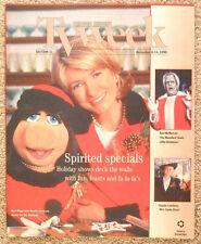 Miss Piggy Martha Stewart CHRISTMAS HOLIDAY SPECIALS Chicago TV guide Dec 8 1996