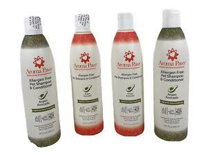 Lot Of 4 Aroma Paws Allergen Free High Shine Argan Acai Pet Shampoo 13.5 oz