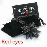The witcher geralt pendant wolf lobo videojuego colgante metal ps3 ps4 xbox pc