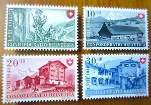 EBS Switzerland Helvetia 1948 Pro Patria - Border Security Michel 508-511 MNH**