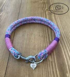 Luxury Rope Catch Collar ( pick your own colours) matching leads available