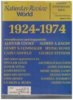 Saturday Review World August 10 1974 Dashiell Hammett Ogden Nash John Dewey