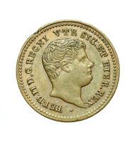 pcc1621_1) Napoli Regno delle Due Sicilie Ferdinando II Mezzo Tornese 1838