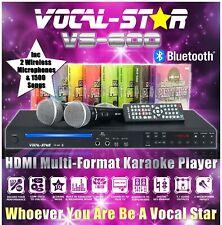 VOCAL-STAR VS-600 CDG HDMI BLUETOOTH KARAOKE MACHINE 2 WIRELESS MICS 1500 SONGS