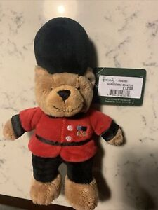 """Harrods Royal Guard Guardsman 14"""" Teddy Bear Beefeater Plush Toy Preowned"""