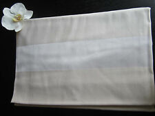 """FRETTE Satin Band Ivory Rectangle Tablecloth 94"""" x 110"""", Free Shipping!"""