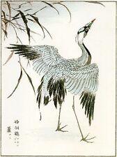 2 Japanese Woodblock Reproductions: Numata Kashu: Cranes - 2 Fine Art Prints