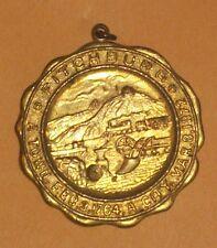 1764 1872 FITCHBURG MASSACHUSETTS MA OLD MEDAL PENDANT SEAL TRAIN FARM ROLLSTONE