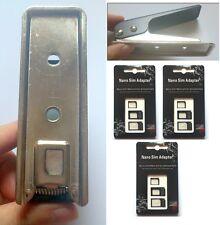 Black Micro SIM & Full SIM to Nano SIM Card Cutter 3sets adapters B for iphone 6