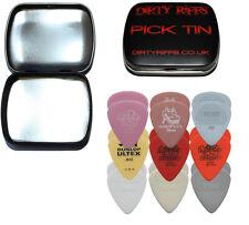 18 Dunlop Light Guitar Picks Variety - Tortex, Nylon, Ultex, Gator In A Pick Tin