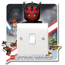 Lego Star Wars Lichtschalter Vinyl Aufkleber umringt