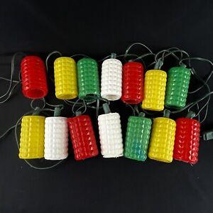 Lot of 2 Vtg Blow Mold Plastic RV Camper Patio Diamond 14 Lantern String Lights