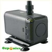 2x 22W Submersible Water Pump 1200L/H For Hydroponics Aquarium Irrigation