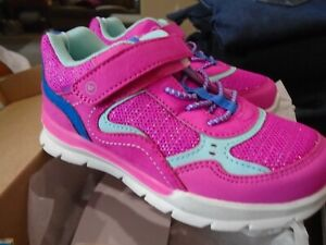 GIRLS STRIDE RITE 360 SIZE 12 MONTHS - PINK & BLUE NOVA GYM SHOES - NIB