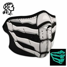 Zan Headgear Glow in the Dark Bone Breath Neoprene Half Face Mask