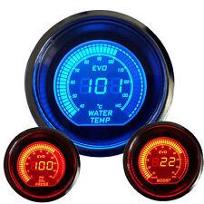 """2"""" 52mm Car Vehicle Red/Blue LED Boost Meter / Water Temp / Oil Pressure Gauge"""
