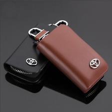 1Piece Genuine Leather Car Key Cover Holder For Toyota Black New Car Key Case