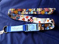 Disney * EMOJI / EMOJIS * Reversible Pin Trading Lanyard w Detachable Section