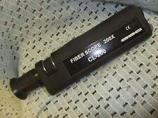 Microscopio de fibra óptica Westover científico caso de goma alcance de CL200 200x 23x6cm