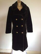 Astraka Black Faux Fur Coat Size 12/14