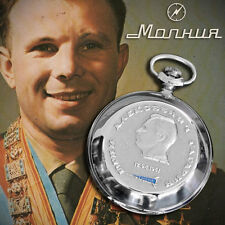 MOLNIJA 3602 Taschenuhr JURI GAGARIN Cosmos Sputnik Vostok Russian pocket watch