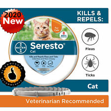 Bayer Seresto Flea and Tick Collar for Cat All Weight 8 Month Protection