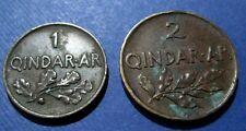 ALBANIA - 1,2 QINDAR  AR 1935  ZOG. I KING OF THE ALBANIAN