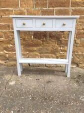 BESPOKE H80 W100 D20cm BESPOKE CONSOLE HALL TABLE 3 DRAWER 1 SHELF PAINTED