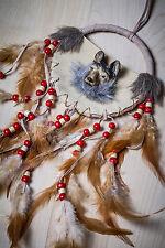 Traumfänger mit Wolf + Federn Indianer Deko Geschenk Wild West 124736213