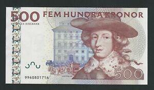 SWEDEN 500 KRONOR   2007 AUNC