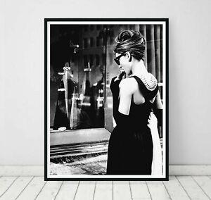 Breakfast at Tiffanys Audrey Hepburn Celebrities Art Print. A3 A2 A1 Sizes