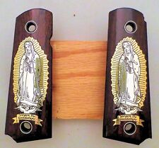 1911 custom wood grips gold silver Virgin Mary Virgen Maria Lady of Guadalupe