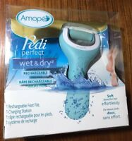 Amope Pedi Perfect Wet/Dry Rechargeable Foot File Charging Station Carrying Bag