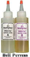 Two (2) 4 oz. Bottles 8 oz kit Brampton Pro-Fix 5&15 Quick Golf Shaft Epoxy