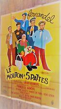 LE MOUTON A 5 PATTES  ! fernandel affiche cinema 1954