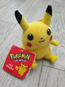 Pokemon #25 PIKACHU. 1998 Beanie plush soft toy. 6 inches. Nintendo Hasbro Rare
