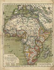Africa Imperi Coloniali Ulrico Hoepli Carta Geografica Ottocentesca 1890 Rara