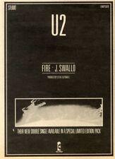 1/8/81PN10 U2 : FIRE/J. SWALLO ADVERT 7X5