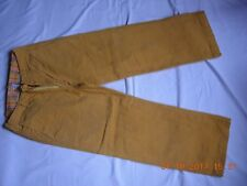 PAROSH yellow corduroy trousers wide bags 100% cotton made in Italy W32 L28.5