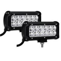 2X 7inch 36W Cree Spot LED Light Bar Off-road ATV Fog Truck 4WD For Polaris Boat